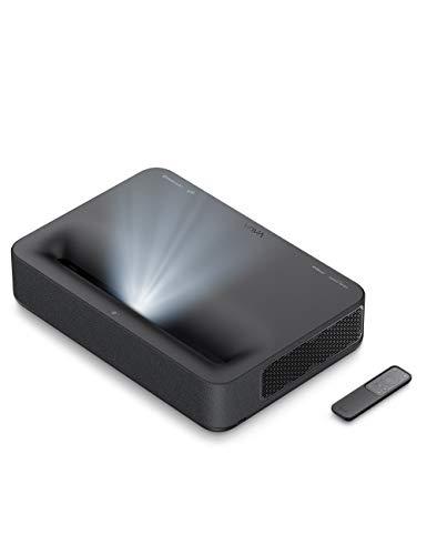 VAVA 4K Ultra Short Throw Laser TV Home Theatre Projector, 2500 ANSI Lumens, HDR10, Built-in Harman Kardon Soundbar, Ultra HD Smart Laser Projector for Movies&Video&Gaming, Easy Installation (Black)