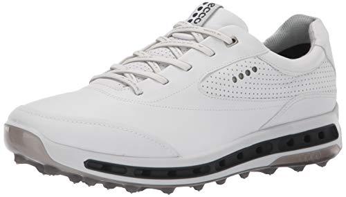 ECCO Men's Cool Pro Gore-TEX Golf Shoe, White/Black/Transparent, 12-12.5