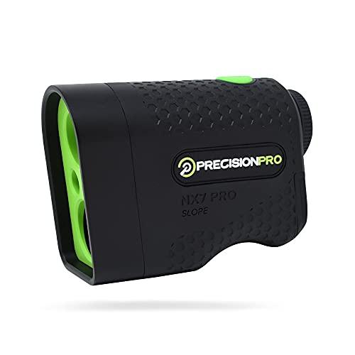 Precision Pro NX7 Pro Golf Rangefinder with Slope - Laser Golf Range Finder Golfing Accessory - Slope, 6X Magnification, Flag Lock with Pulse Vibration, 600 Yard Range, Case, Golf Laser Rangefinder