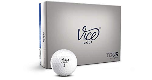 Vice Tour Golf Balls, White (One Dozen)