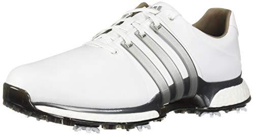 adidas Men's TOUR360 XT Golf Shoe, FTWR White/Silver Metallic/Dark Silver/Metallic, 10.5 M US