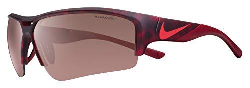 Nike Golf Men's Golf X2 Pro E Rectangular Sunglasses, Matte Gym Red Tortoise/Team Red Frame, 74 mm