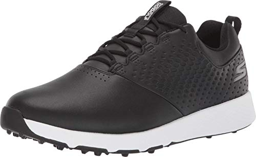 Skechers mens Elite 4 Waterproof Golf Shoe, Black/White, 10 US