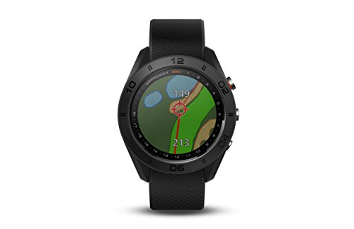 Garmin Approach S60, Premium GPS Golf Watch with Touchscreen Display and Full Color CourseView Mapping, Black w/Silicone Band (Renewed)
