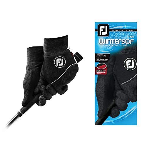 FootJoy Men's WinterSof Pair Golf Glove Black Medium, Pair