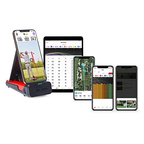 Rapsodo Mobile Launch Monitor for Golf Indoor and Outdoor Use with GPS Satellite View and Professional Level Accuracy, iPhone & iPad Only