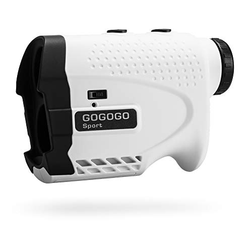 Gogogo Sport Vpro Laser Rangefinder for Golf & Hunting Range Finder Gift Distance Measuring with High-Precision Flag Pole Locking Vibration Function︱Slope Mode Continuous Scan (650Y with slop Switch)
