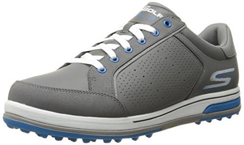 Skechers Performance Men's Go Golf Drive 2 Golf Shoe,Charcoal/Blue,7.5 M US