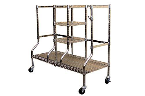 SafeRacks Golf Bag Storage Rack | Sports Equipment Organizer | Heavy-Duty Steel Wire Shelf Extra-Wide | Fits 2 Extra-Large Golf Bags Plus Accessories