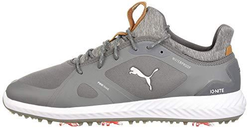 PUMA mens Puma Men's Ignite Pwradapt Golf Shoe, Quiet Shade/Quiet Shade, 8.5 US