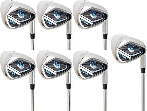 LAZRUS Premium Golf Irons Set for Men (4,5,6,7,8,9) Right Hand Steel Shaft Regular Flex Golf Clubs - Best Golf Iron Set - Great Golf Gift for Beginner Or Intermediate (4-9)
