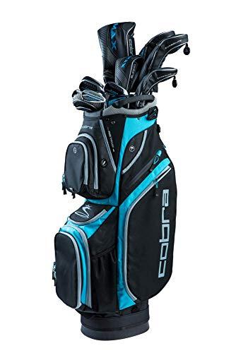Cobra Golf 2019 F-Max Superlite Complete Set Black-Lexi Blue (Women's, Right Hand, Graphite, Ladies Flex, 15.0, 3W, 5W, 7W, 5H, 6-PW, SW, Putter, Bag)