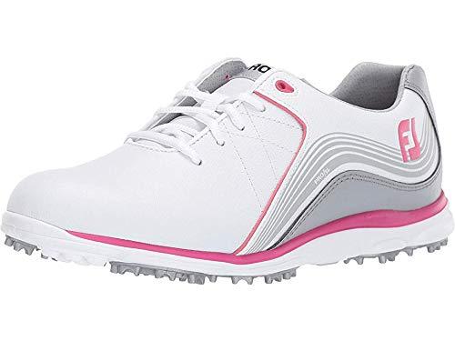 FootJoy Women's Pro/SL Golf Shoes, White/Grey/Fuchsia, 5 M US