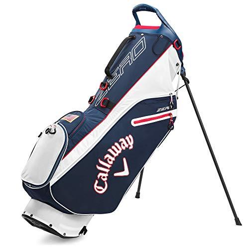 Callaway Golf 2020 Hyperlite Zero Lightweight Stand Bag (Navy/Red/USA Flag , Double Strap)