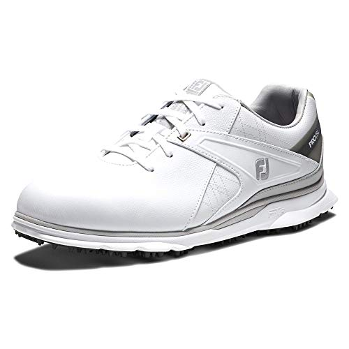 FootJoy Men's Pro/SL Golf Shoes, White/Grey, 12 N US