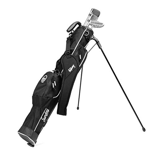 Sunday Golf - Lightweight Sunday Golf Bag with Strap and Stand – Easy to Carry and Durable Pitch n Putt Golf Bag – Golf Stand Bag for The Driving Range, Par 3 and Executive Courses – 31.5 inches Tall…