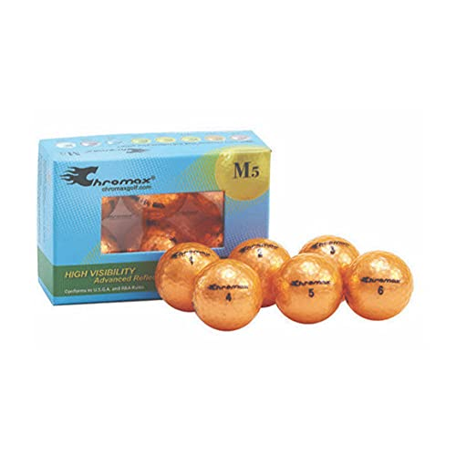 Chromax Metallic M5 Colored Golf Balls (Pack of 6), Orange