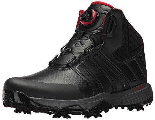 adidas Men's Climaproof BOA Golf Shoe, Black, 10.5 M US