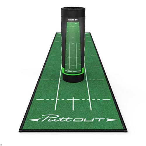 PuttOut Pro Golf Putting Mat - Perfect Your Putting (7.87-feet x 1.64-feet) (Green)