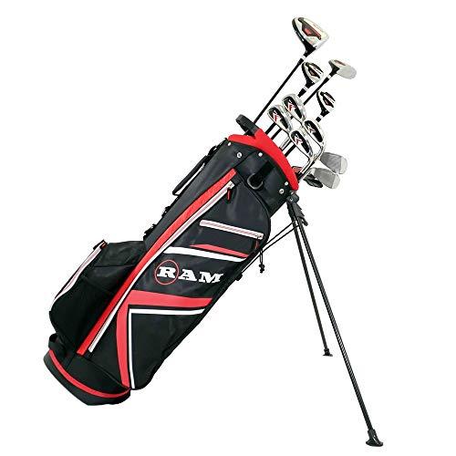 Ram Golf Accubar Plus Men Right Graphite/Steel Golf Clubs Set Reg Flex, 1 Inch Longer