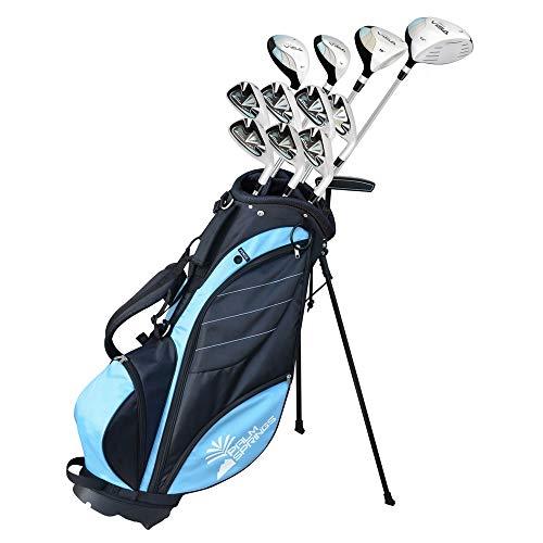 Palm Springs Golf Visa Lady Petite -1' All Graphite Hybrid Club Set & Stand Bag