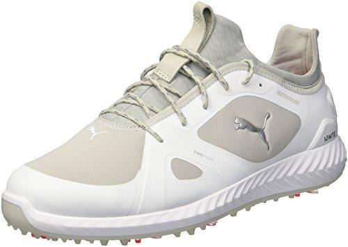 Puma Golf Men's Ignite Pwradapt Athletic Shoe, puma White-Gray Violet, 7 M US