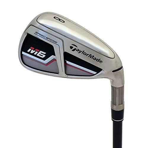 TaylorMade Golf M6 Iron Set, 4-PW, Left Hand, Stiff Flex Shaft: Fujikura Atmos Orange