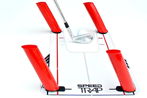 EyeLine Golf Speed Trap 1.0 - Unbreakable Base, Red Speed Rods and Carry Bag; Shape Shots and Eliminate a Slice or Hook - Made in USA (2018 Version)