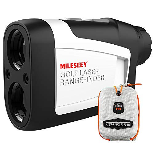 MiLESEEY Golf Rangefinder, High-Precision Laser Range Finder with Slope On/Off, Fast Flagpole Lock with Vibration, Continuous Scan, 6X Magnification, Distance/Angle/Speed Measurement for Golf, Hunting