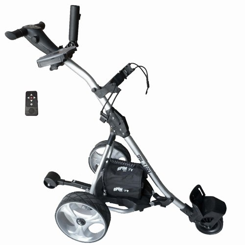 Spin It Golf Products GC1R Easy Trek Remote Controlled Electric Golf Cart, Silver