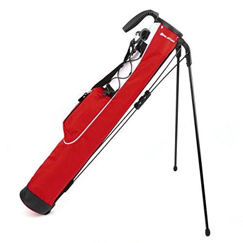 Orlimar Pitch & Putt Golf Lightweight Stand Carry Bag, Brick Red