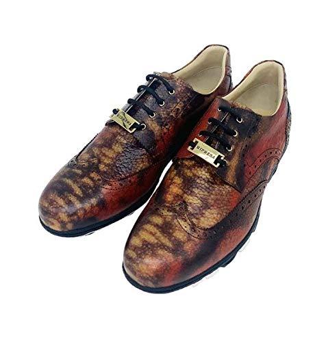 RIPRESA Golf Anaconda Casual Genuine Leather Golf Sneakers (Numeric_5_Point_5) Orange