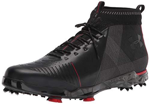 Under Armour Men's Spieth 2 Mid GT Golf Shoe, Black (001)/Spice Red, 11.5