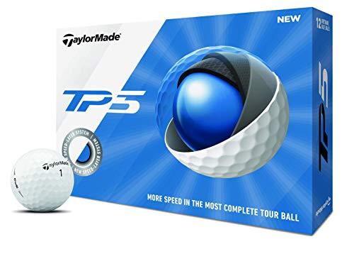 TaylorMade TP5 Golf Balls, Dozen, White