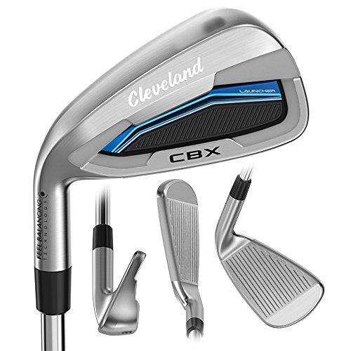 Cleveland Golf 2018 Men's Launcher CBX Iron Set (Set of 8 total clubs: 4-PW, DW, Left Hand, Stiff, Graphite)