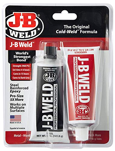 J-B Weld 8281 Professional Size Steel Reinforced Epoxy Twin Pack - 10 oz. (Pack of 2)