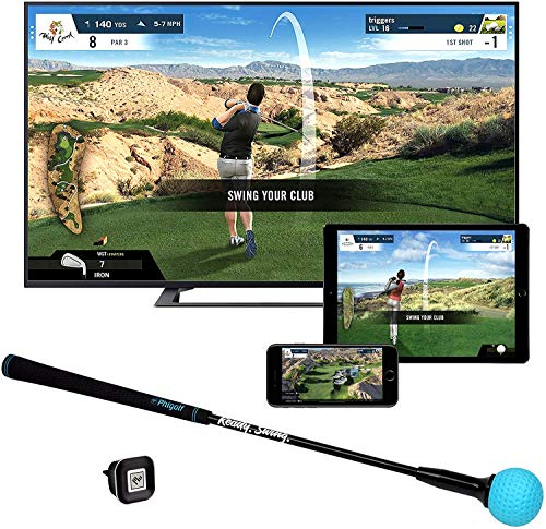 Phigolf Mobile and Home Smart Golf Game Simulator with Swing Stick - WGT Edition 2019