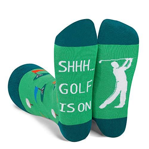Zmart Funny Saying Golf Is On Dress Socks-Funny Novelty Golfing Gift For Men Golf Club Golfer Lover