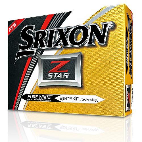 Srixon Z-Star 2017 Golf Balls, White (One Dozen)