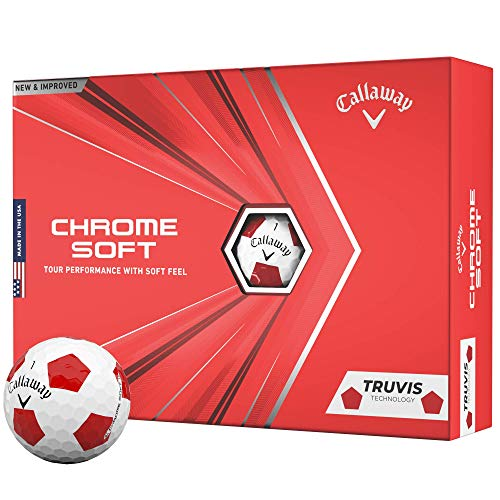 2020 Callaway Chrome Soft Golf Balls (Truvis Red/White)