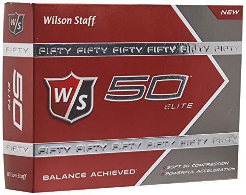 Wilson Golf Staff Fifty Elite Golf Balls, Dozen Slide Pack, White - WGWP17002