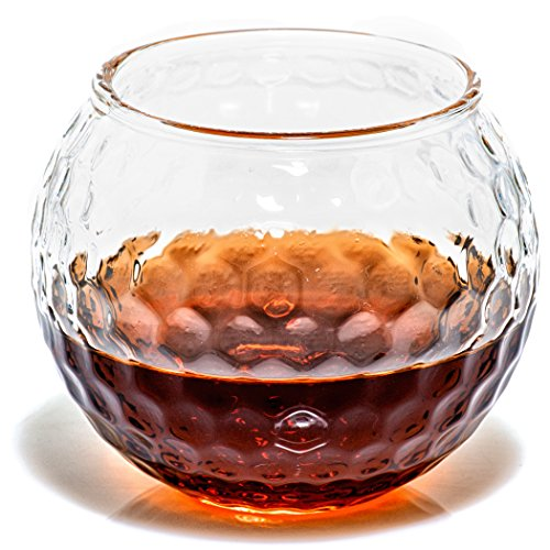 Golf Whiskey Glasses – Rocks Glass for Rum, Scotch, Wine Glasses - Bourbon Gifts - 10oz Cocktail, Lowball, Old Fashioned Glass (Set of 2) Dad Golf Gifts for Men and Women Golfers Who Like Whiskey