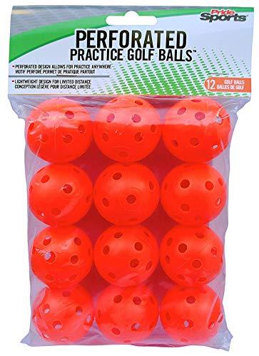 PrideSports PAWB5612 Orange Perforated Practice Balls