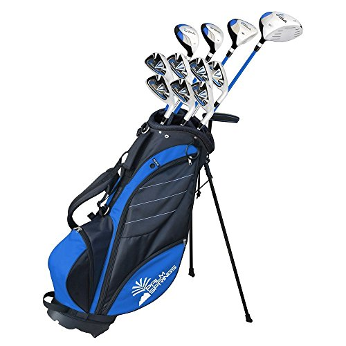 Palm Springs Golf VISA Mens +1' TALL GRAPHITE & STEEL Club Set & Stand Bag