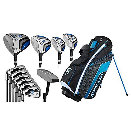 Callaway Golf Men's Strata Ultimate Complete Golf Set (16-Piece, Left Hand, Steel) Blue