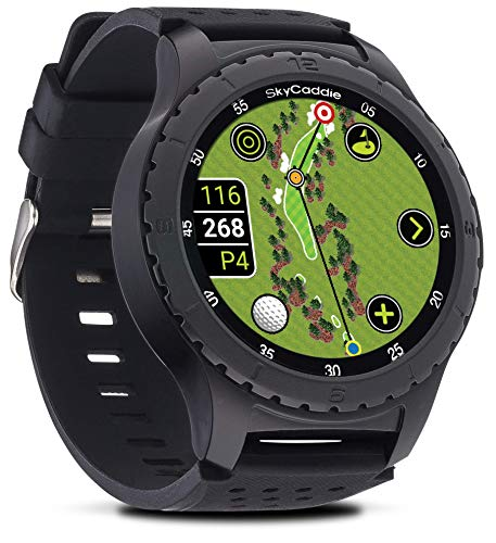 SkyCaddie LX5, GPS Golf Watch with Touchscreen Display and HD Color CourseView Maps, Black, Small