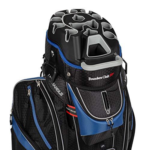 Founders Club Premium 14 Way Organizer Cart Bag (Black)