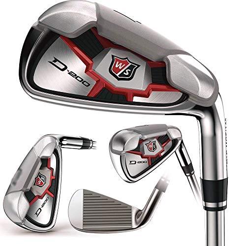 Wilson Staff D200 Combo Irons Set 4H, 5-PW (Steel, UNIFLEX) Golf Clubs